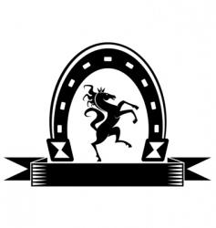 Horseshoe lucky symbol vector