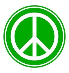 Peace symbol button vector