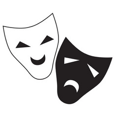 theater mask isolated illustration characte vector