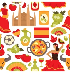 Spain seamless pattern vector