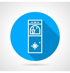 Ice water machine line icon vector