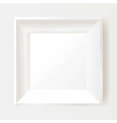 White photo frame vector