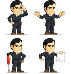 Businessman or company executive customizable 9 vector