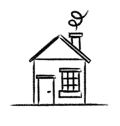 House sketch outline vector