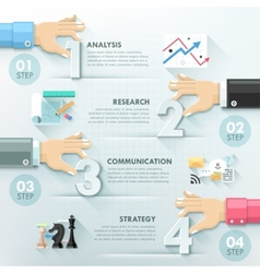 Modern infographic option template vector