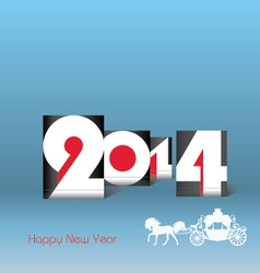 Happy new year 2014 - vector
