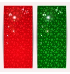 Set of vertical christmas banners with snowflakes vector