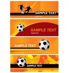 Set soccer background vector