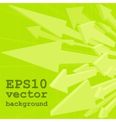 Bunch of green arrows vector