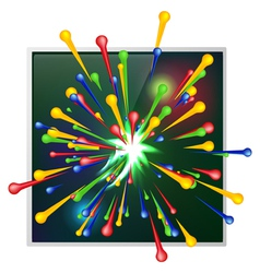 Abstract background of explosion paint vector