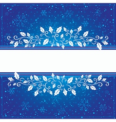Winter blue card vector