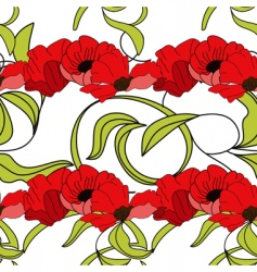 Summer floral seamless wallpaper vector