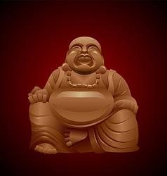 Laughing buddha vector