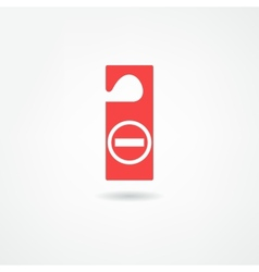 Disturb icon vector