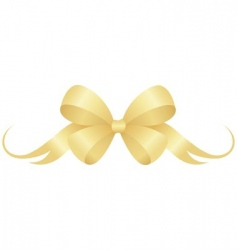 Gold bow vector