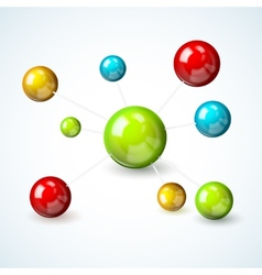 Colored molecule model concept vector