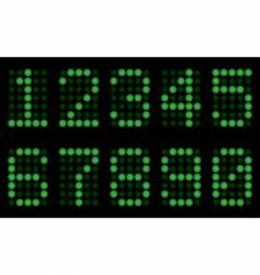 Green digits for matrix display vector