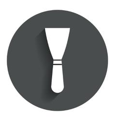 Spatula sign icon wall repair tool symbol vector