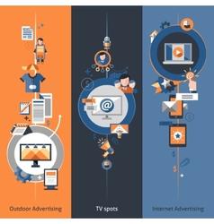 Advertising banner set vector
