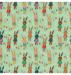 Seamless hare vector