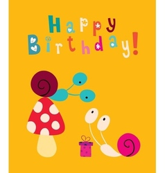 Happy birthday card 6 vector