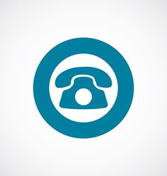 Phone icon bold blue circle border vector