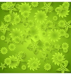 Abstract green floral pattern vector
