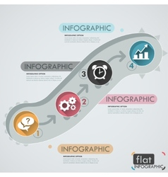 Flat infographic design vector
