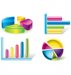 Chart icons vector