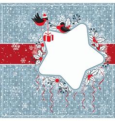 Winter gray card vector