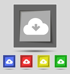 Download from cloud icon sign on the original five vector