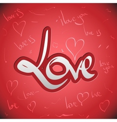 Love greetings hand lettering set vector