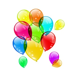 Set colorful balloons on white background for your vector