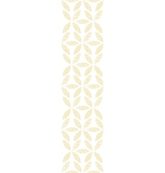 Abstract textile beige leaves vertical seamless vector