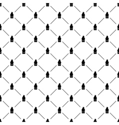 Seamless simple pattern with houses vector