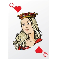 Queen of heart deck romantic graphics cards vector