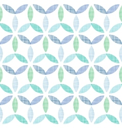 Abstract textile blue green leaves seamless vector