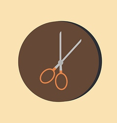 Scissors barbershop symbol of hair and beauty vector