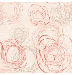 Abstract seamless pattern with scribbles vector