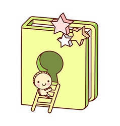 A book is placed vector