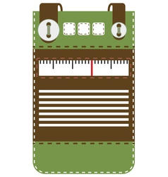 Case for mobile phone radio vector