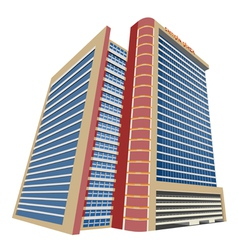 Shopping mall modern building vector