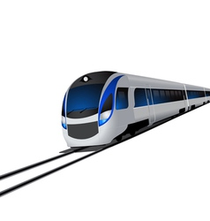 Modern high speed train isolated on white vector