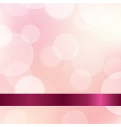 Pink color background with ribbon vector