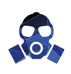 Respirator icon abstract triangle vector