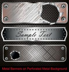 Metal banners vector