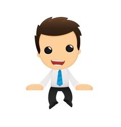 Funny cartoon office worker vector