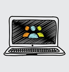 Laptop design vector