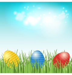 Easter background with copyspace in the sky vector