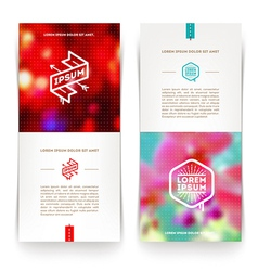 Abctact vertical banners with hipster emblems vector
